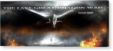 The Last Great Dragon War Canvas Print by Peter Chilelli