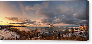 The Last Ice On The Bay Canvas Print by Jeff S PhotoArt