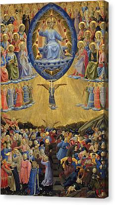 The Last Judgement, Central Panel Canvas Print by Fra Angelico