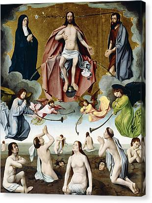 The Last Judgement Canvas Print by Jan Provost