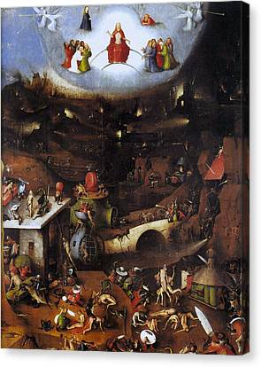 The Last Judgment, Central Panel Canvas Print by Hieronymus Bosch