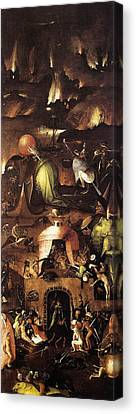 The Last Judgment, Right Wing, Hell Canvas Print by Hieronymus Bosch