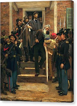 The Last Moments Of John Brown Canvas Print by Thomas Holvenden