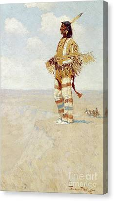 The Last Of His Race  The Vanishing American, 1908 Canvas Print by Frederic Remington