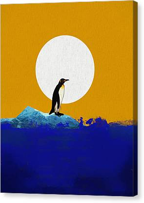 The Last Penguin Canvas Print by Dan Sproul