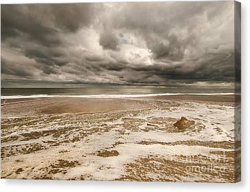The Last Sand Castle Of The Season Canvas Print
