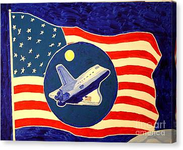 The Last Space Shuttle Canvas Print by Bill Hubbard