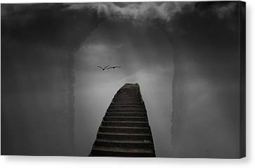 The Last Steps Canvas Print by Keith Elliott
