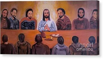 Last Supper Canvas Print - The Last Supper by Deyanira Harris