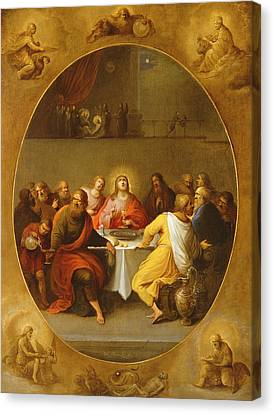 The Last Supper Canvas Print by Frans Francken
