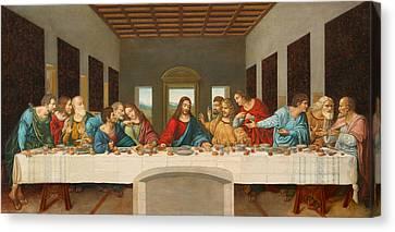 Last Supper Canvas Print - The Last Supper by Giovanni Rapiti
