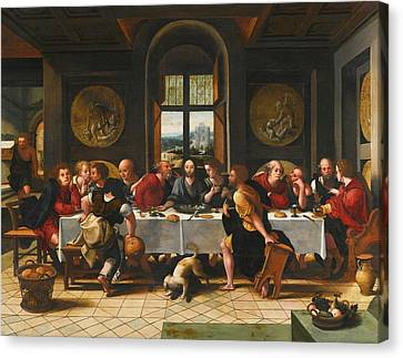 The Last Supper Canvas Print by Pieter Coecke
