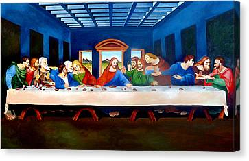 Last Supper Canvas Print - The Last Supper by Ramil Roscom Guerra