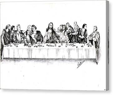 Last Supper Canvas Print - The Last Supper by Ranjith Kp