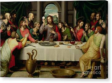 Wine Canvas Print - The Last Supper by Vicente Juan Macip
