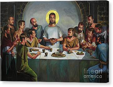 Last Supper Canvas Print - The Last Supper by William Bukowski
