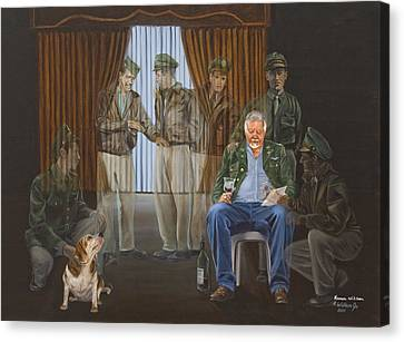 Canvas Print featuring the painting The Last Survivor by Karen Wilson