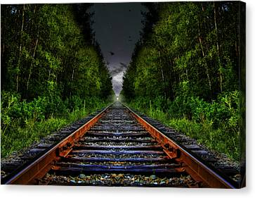 Canvas Print featuring the photograph The Last Train Ride by Gary Smith