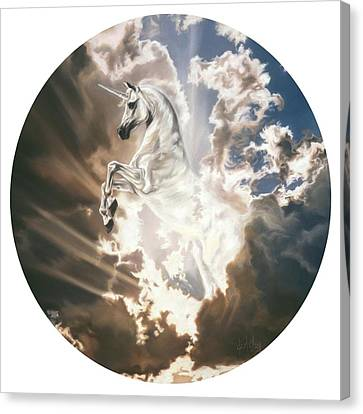 The Last Unicorn Canvas Print by Kim McElroy