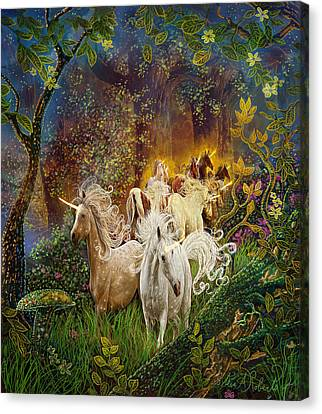The Last Unicorns Canvas Print by Steve Roberts