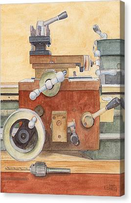 The Lathe Canvas Print by Ken Powers