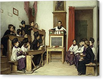 The Latin Class Canvas Print by Ludwig Passini