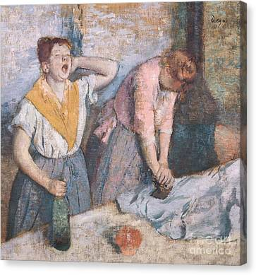 The Laundresses Canvas Print by Edgar Degas