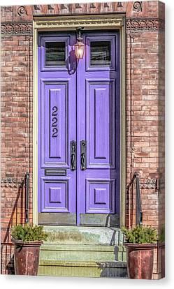 Old Houses Canvas Print - The Lavender Door by Jon Woodhams