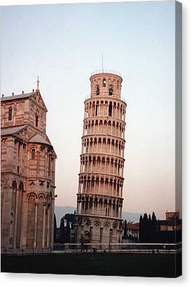 The Leaning Tower Of Pisa Canvas Print by Marna Edwards Flavell
