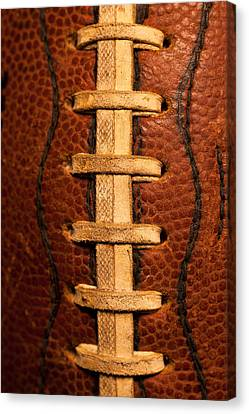 The Leather Football Canvas Print by David Patterson
