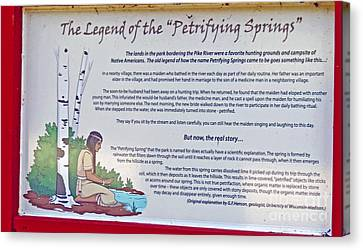 The Legend Of The Petrifying Springs Canvas Print