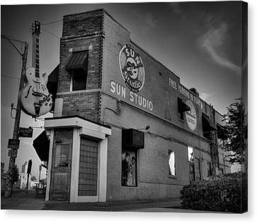 The Legendary Sun Studio 001 Bw Canvas Print by Lance Vaughn