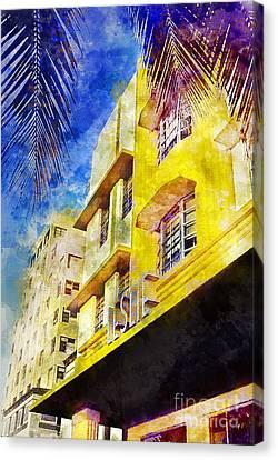 The Leslie Hotel South Beach Canvas Print by Jon Neidert