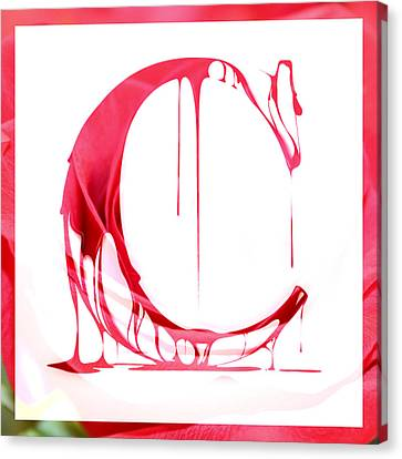 The Letter C Canvas Print by Cathie Tyler