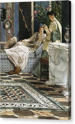 The Letter From An Absent One Canvas Print by Sir Lawrence Alma-Tadema