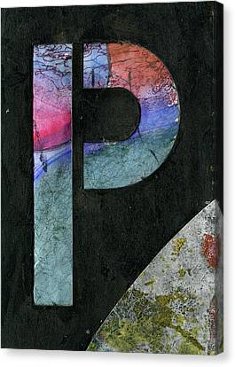 The Letter P Canvas Print