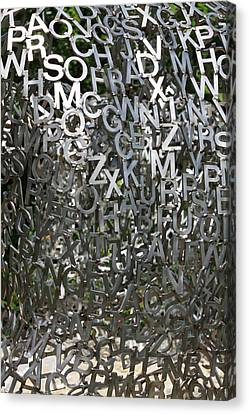 Canvas Print featuring the photograph The Letters That Make The Words by Kate Purdy