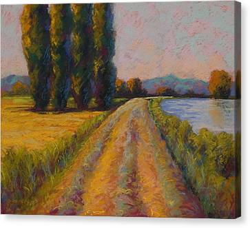 The Levee Canvas Print by Marion Rose