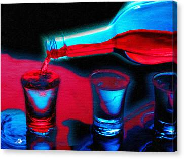 The Drink That Kills You Ode To Addiction Canvas Print by Tony Rubino