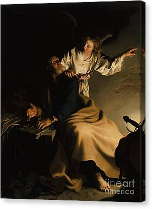 The Liberation Of Saint Peter Canvas Print by Abraham Bloemaert