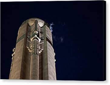 The Liberty Memorial At Night Canvas Print