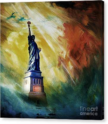 The Liberty Of Statue 01 Canvas Print by Gull G