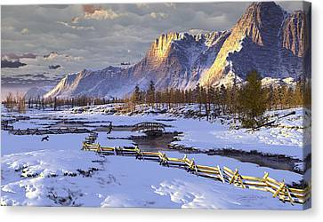 The Life Of Snow Canvas Print by Dieter Carlton