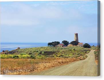 Old West Canvas Print - The Light At Piedras Blancas - San Simeon California by Christine Till