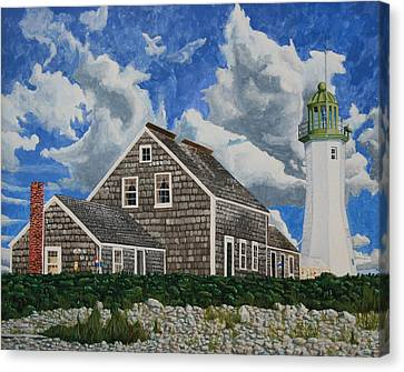 The Light Keeper's House Canvas Print by Dominic White