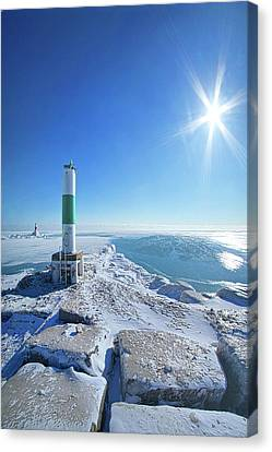 Canvas Print featuring the photograph The Light Keepers by Phil Koch