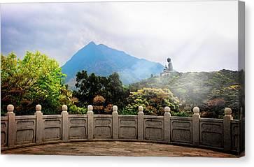 The Light Of Buddha Canvas Print