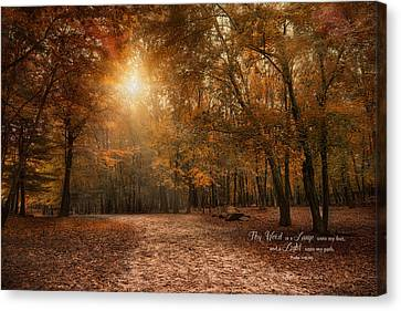 Canvas Print featuring the photograph The Light by Robin-Lee Vieira