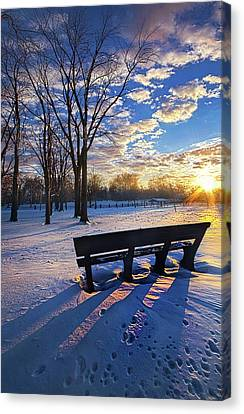 Canvas Print featuring the photograph The Light That Beckons by Phil Koch
