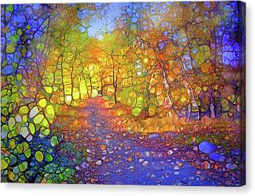 The Light Within The Blue Canvas Print